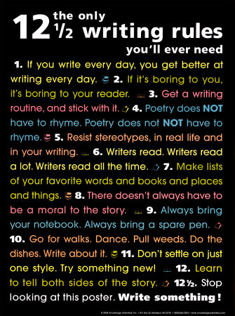 12 Rules of Writing poster